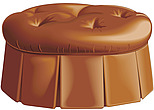 illustraton upholstered seating pouf, footstool - 80005-230-1