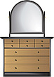 illustraton  dressing table with mirror - 80005-300-1