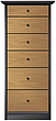illustraton tall chiffonnier chest of drawers - 80005-320-1