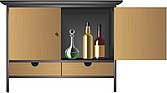 illustraton drinks cabinet - 80005-360-1