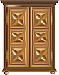 illustraton wooden cupboard with carved doors - 80005-400-1