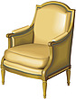 illustraton  begere upholstered armchair - 80005-60-1