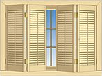 illustraton  wooden internal shutters - 80006-90-1