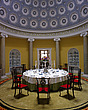 The Rotunda is a circular dining room with a Pantheon dome and Ionic columns in green scagliola - 60027-30-1
