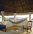 Hammock on terrace with thatched roof in Lamu, Kenya - 60250-10-1