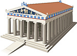 illustration Greek Temple - 80010-100-1
