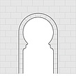 Illustration horseshoe arch - 80011-100-1