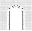 Illustration Tudor window - 80011-130-1