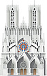 Illustration cathedral facade - 80011-150-1