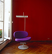 Pillet's 'Sunset Chair' in a red room, Paris, France - 60420-10-1