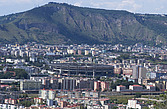 View over the City of Naples and Stadio San Paolo football stadium, Campania, Italy, Europe  - 13239-290-1