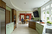 Contemporary Art Deco style walnut and mint Kitchen refurbishment - 13632-90-1