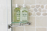 Tiled bathroom makeover, lime accessories - 13633-90-1