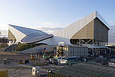 The Aquatic Centre under construction for the 2012 Olympics, Stratford, London, E20, United Kingdom  - 13669-100-1