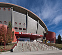 View of the West entrance to the Scotiabank Saddledome, home of the Calgary Flames, NHL ice hockey team - 13766-90-1