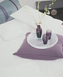 Bedroom accessories with purple cushion & tray - 9469-80-1