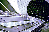 Canary Wharf Station, Jubilee Line, London escalator underground  - 10051-130-1