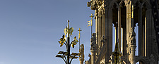 A pinnacle and gilded standard of the Victoria Tower, Palace of Westminster, London - 11348-80-1