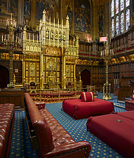 Lord's Chamber, Houses of Parliament, Westminster, London - 11386-120-1