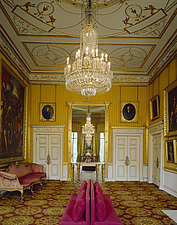 View of the Portico Drawing Room looking towards the North wall mirror, Apsley House, London, UK - 32104-80-1