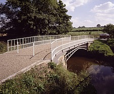 Cantlop Bridge, view from the North-West of the last intact Telford bridge, Shropshire, UK - 32149-10-1