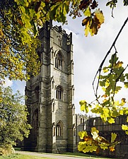 Abbot Hubys Tower, Fountains Abbey, Ripon, North Yorkshire, UK - 32191-10-1
