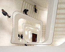 Caixa Forum, interior stairwell looking down - 12941-150-1