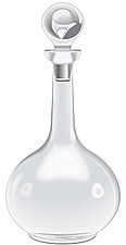 Illustration glass carafe with stopper - 80000-140-1