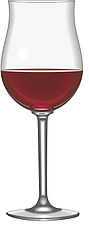 Illustration red wine glass, bordeaux wine glass - 80000-60-1
