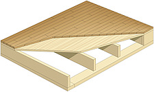 illustratio parquet wooden flooring on wooden structure - 80004-20-1