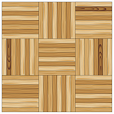 illustration wooden parquet strip flooring with mosaic pattern - 80004-70-1