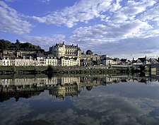 Blois, Loire, view of town from the river - 11004-50-1