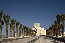 Treelined exterior of the Museum of Islamic Art, Doha - 13176-70-1