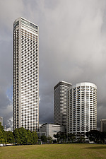 The Raffles City hotel, office and shopping complex was designed by I - 13186-20-1