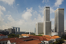 The Raffles City hotel, office and shopping complex was designed by I - 13186-50-1