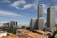 The Raffles City hotel, office and shopping complex was designed by I - 13186-60-1
