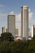 The Raffles City hotel, office and shopping complex was designed by I - 13186-70-1
