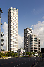 The Raffles City hotel, office and shopping complex was designed by I - 13186-80-1