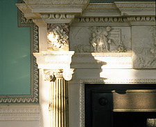 Mount Vernon, Virginia, USA  - Home of George Washington - Detail of fireplace and surround - 216-380-1