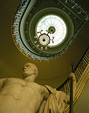Apsley House, No 1 London, Hyde Park Corner (1771-8) - The grand staircase - 234-60-1