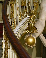 Apsley House, No 1 London, Hyde Park Corner (1771-8) - Detail of he grand staircase - 234-70-1