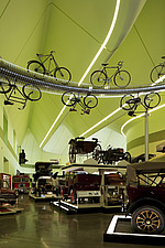 Transport exhibits in the Riverside Museum, Glasgow - 13428-310-1