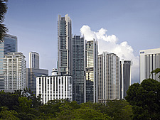 The Troika building, KLCC park, late afternoon - 13461-30-1
