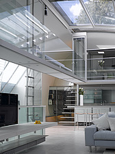Glass interior and living space, Paxton house, London, UK - 11655-20-1
