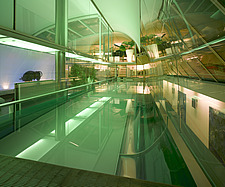Swimming pool at night in Paxton House, London, UK - 11655-310-1