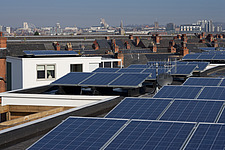 Roofscape with solar panels  looking towards city of Nottingham - 13635-50-1