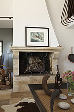 Stone fireplace in sitting room  - 13645-80-1