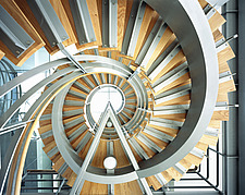 Internal modern wooden spiral staircase - 13220-30-1