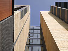High rise housing detail with brick and glass windows - 13809-60-1
