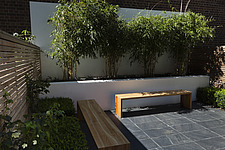 Compact, contemporary town garden patio in the Islington area of North London, UK, designed by Modular - 14151-30-1